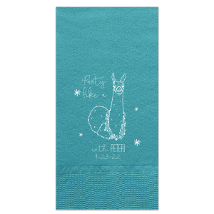Party Like a Llama Napkin