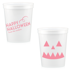 Halloween Pumpkin Face Stadium Cup