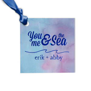 The ever-popular Watercolor Ocean Luggage Gift Tag with Shiny Royal Blue Foil has a Wave Flourish graphic and is good for use in Beach/Nautical, Accents themed parties and will add that special attention to detail that cannot be overlooked.