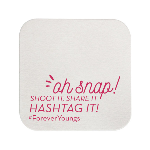 Personalized White Square Coaster with Matte Slate Gray Foil couldn't be more perfect. It's time to show off your impeccable taste.