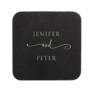 Our beautiful custom Kraft with Blush back Nouveau Coaster with Matte White Foil will give your party the personalized touch every host desires.