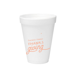 Family Thanksgiving Foam Cup