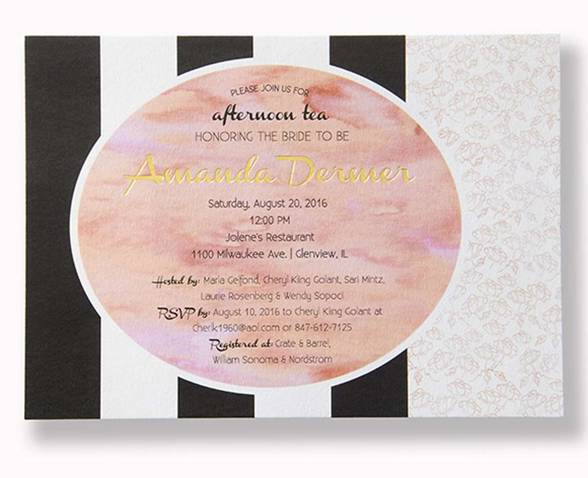 Full Color Bridal Shower Invitation