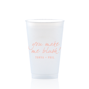 The ever-popular Matte Pastel Pink Ink 9 oz Frost Flex Cup with Matte Pastel Pink Ink Cup Ink Colors will look fabulous with your unique touch. Your guests will agree!
