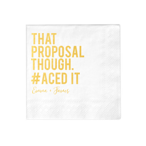 That Proposal Napkin