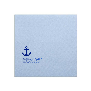 ForYourParty's elegant Powder Blue Cocktail Napkin with Shiny Royal Blue Foil has a Anchor 2 graphic and is good for use in Travel, Beach/Nautical, Father's Day themed parties and couldn't be more perfect. It's time to show off your impeccable taste.