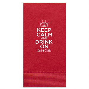 Keep Calm Crown Napkin