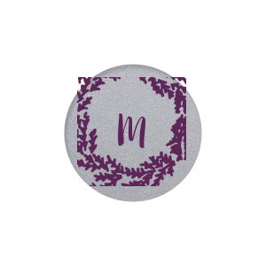 Wreath Single Initial Label