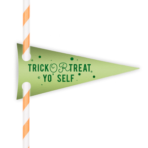 Personalized Neon Green Double Point Straw Tag with Shiny Leaf Foil will impress guests like no other. Make this party unforgettable.