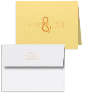 Decorative Ampersand Note Card