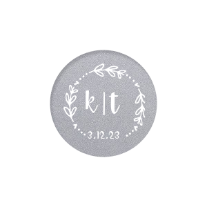 Date Wreath Label