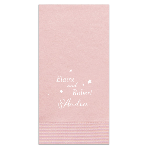 Our personalized Watercolor Rose Cocktail Napkin with Matte White Foil can be customized to complement every last detail of your party.