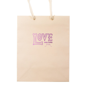 ForYourParty's elegant Mimosa Gift Bag with Shiny Amethyst Foil Color has a Love 2 graphic and is good for use in Wedding, Engagement, Bridal Shower themed parties and will add that special attention to detail that cannot be overlooked.
