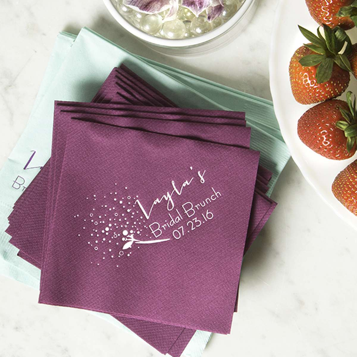 Brunch Personalized Cocktail Napkin