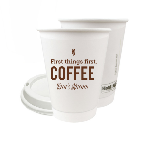 ForYourParty's elegant Matte Chocolate Ink 12 oz Paper Coffee Cup with Matte Chocolate Ink Screen Print will impress guests like no other. Make this party unforgettable.