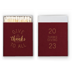 Our custom Natural Cranberry Euro Matchbox with Satin 18 Kt. Gold Foil Color has a Maple graphic and is good for use in Delphine themed parties and will look fabulous with your unique touch. Your guests will agree!