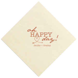 Love Arrow Wedding Napkin