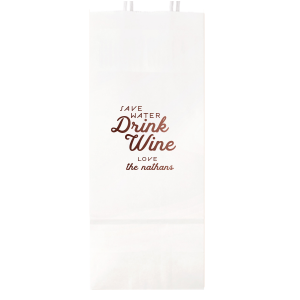 Save Water Drink Wine Bag