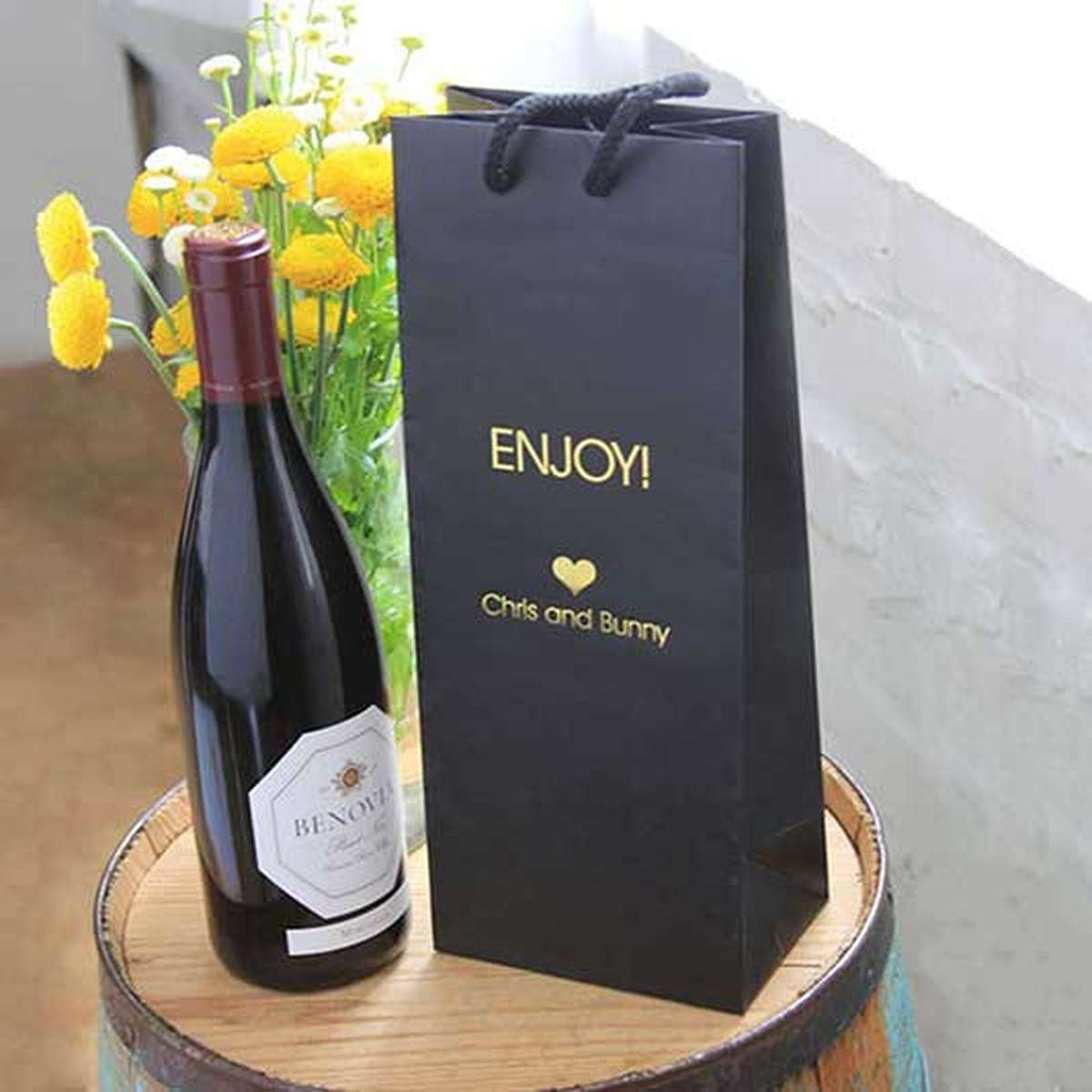 custom wine euro bag