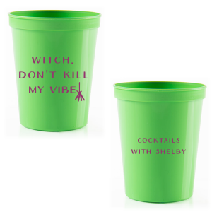 Our custom Lime 16 oz Stadium Cup with Matte Plum Ink Cup Ink Colors are a must-have for your next event—whatever the celebration!