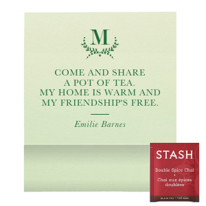 Our personalized Poptone Mint Tea Favor with Satin Leaf Foil Color has a Branch 3 graphic and is good for use in Frames themed parties and can't be beat. Showcase your style in every detail of your party's theme!