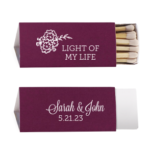The ever-popular Poptone Peach Classic Matchbox with Matte White Foil Color has a Marigold Bunch graphic and is good for use in Accents themed parties and are a must-have for your next event—whatever the celebration!