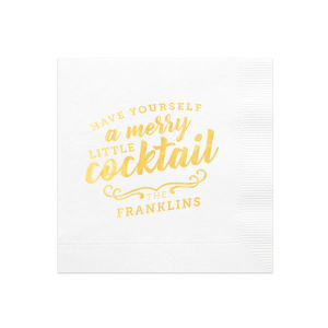 Merry Little Cocktail Napkin