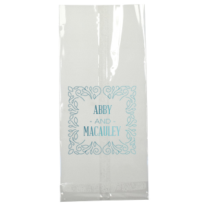 ForYourParty's elegant Turquoise Gloss Goodie Bag with Shiny 18 Kt Gold Foil has a Linear Floral Frame graphic and is good for use in Floral, Trendy, Couple themed parties and couldn't be more perfect. It's time to show off your impeccable taste.