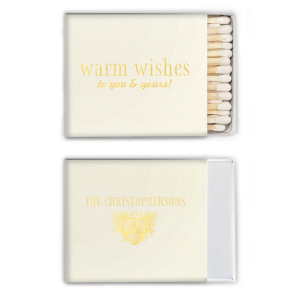 Our beautiful custom Strathmore Ivory Triangle Matchbox with Shiny 18 Kt Gold Foil Color has a Pinecones graphic and is good for use in Christmas themed parties and can be personalized to match your party's exact theme and tempo.