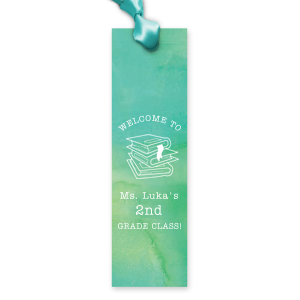 The ever-popular Watercolor Seaglass Party Pocket with Matte White Foil has a Books Stacked graphic and is good for use in Graduation themed parties and can be personalized to match your party's exact theme and tempo.