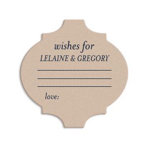 Personalized Kraft with Blush back Ornament Coaster with Matte Navy Foil can be personalized to match your party's exact theme and tempo.