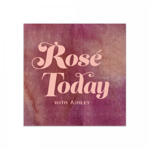 Our custom Watercolor Sangria Cocktail Napkins with Bleed with Matte Pastel Pink Foil has a Rosé Today graphic and is good for use in Drinks, Words, Full Bleed themed parties and are a must-have for your next event—whatever the celebration!