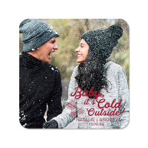 Our beautiful custom White Photo/Full Color Round Coaster with Matte Lipstick Red Ink Digital Print Colors has a Snowflake Cluster graphic and is good for use in Winter and Wedding themed parties and can't be beat. Showcase your style in every detail of your party's theme!