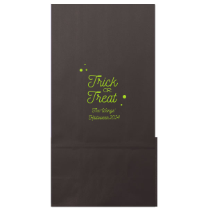 Our beautiful custom Black Goodie Bag with Shiny Kiwi / Lime Foil will impress guests like no other. Make this party unforgettable.