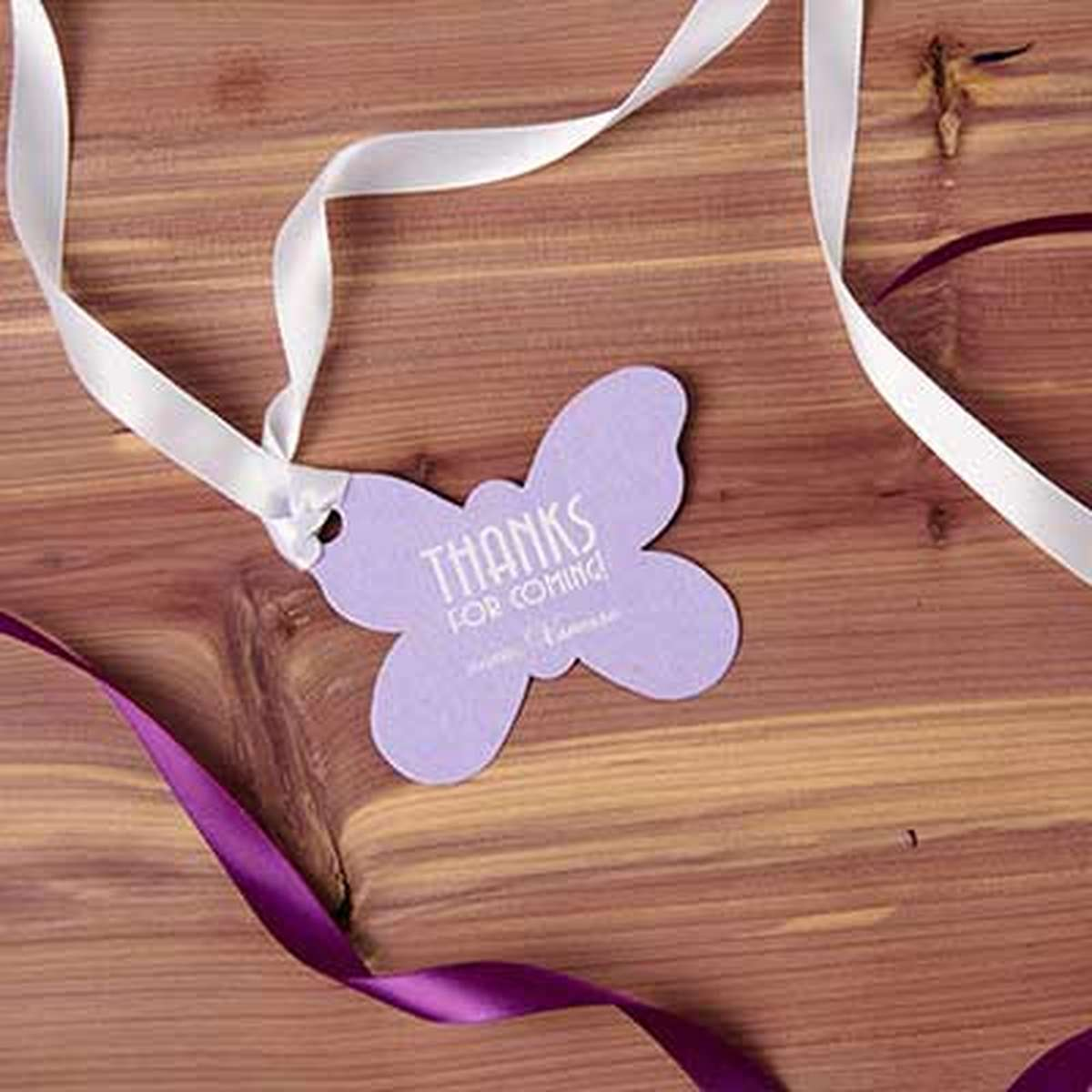 custom butterfly gift tag