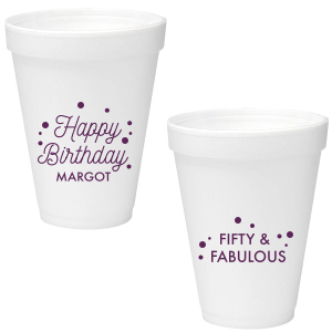 Happy Birthday Dots Foam Cup