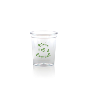 Our beautiful custom Matte Moss Green Ink Plastic Shot Glass with Matte Moss Green Ink Print Color has a Diamond graphic and is good for use in Wedding themed parties and will impress guests like no other. Make this party unforgettable.