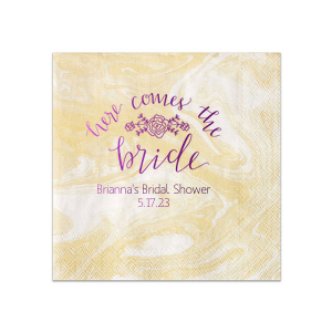 Here Comes the Bride Napkin