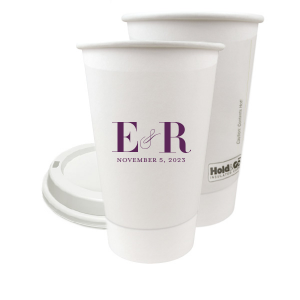The ever-popular Matte Black Ink 12 oz Paper Coffee Cup with Matte Black Ink Screen Print will impress guests like no other. Make this party unforgettable.