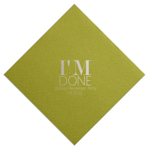Our custom Moss Green Cocktail Napkin with Matte Chocolate Foil will give your party the personalized touch every host desires.