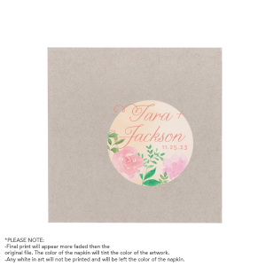 Our custom White Borderless Photo/Full Color Cocktail Napkin with Matte Light Coral Ink Digital Print Colors will impress guests like no other. Make this party unforgettable.