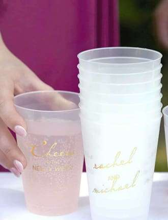 wedding frosted cup