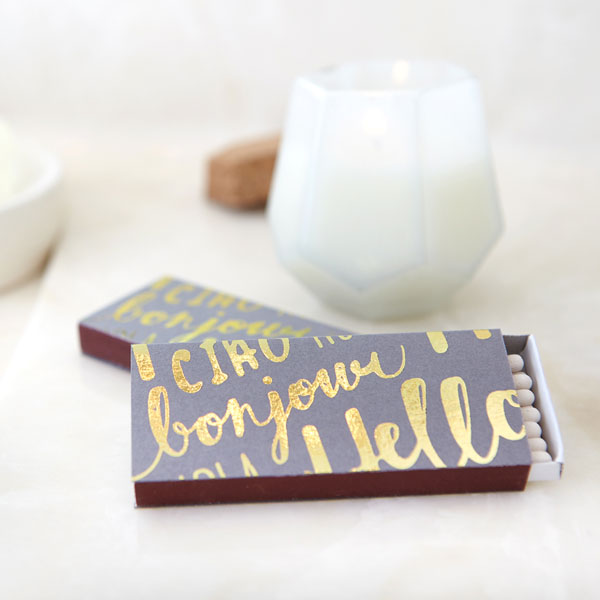 hello gold foil bathroom towel set