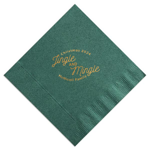 The ever-popular Spruce Cocktail Napkin with Shiny Copper Foil can be customized to complement every last detail of your party.