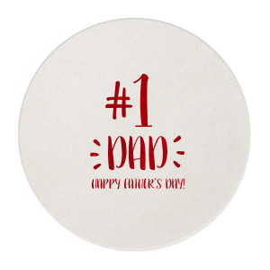 Our custom Eggshell Round Coaster with Shiny Convertible Red Foil couldn't be more perfect. It's time to show off your impeccable taste.