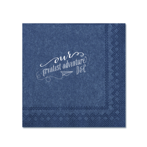 ForYourParty's chic Watercolor Ocean Cocktail Napkin with Matte White Foil has a Paper Airplane graphic and is good for use in Kid Birthday, Birthday themed parties and will make your guests swoon. Personalize your party's theme today.