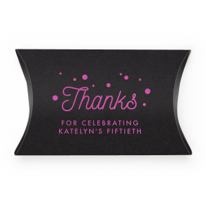 ForYourParty's chic Natural Black Rectangle Box with Satin Fuchsia Foil Color will add that special attention to detail that cannot be overlooked.