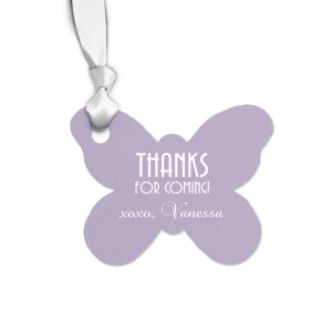 The ever-popular Poptone Lavender Butterfly Gift Tag with Matte White Foil will add that special attention to detail that cannot be overlooked.