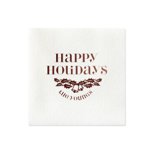 Holly Bells Napkin