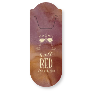 Custom Watercolor Sangria Rounded Bookmark with Matte Ivory Foil has a Wine Toast graphic and is good for use in Drink, Wine, Literature, Book themed parties and can be personalized to match your party's exact theme and tempo.